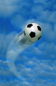 soccer ball flying around