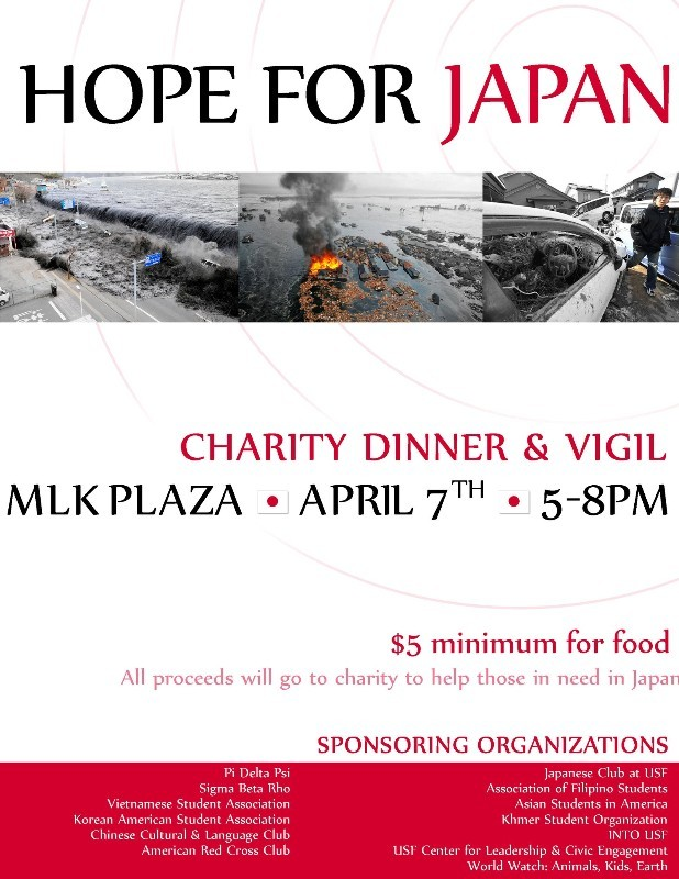 Hope For Japan: Charity Dinner and Candlelight Vigil @ USF Tampa